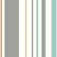 White/Grey/Orange Children Wallcovering by York