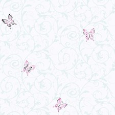 White/Pink/Black Children Wallcovering by York