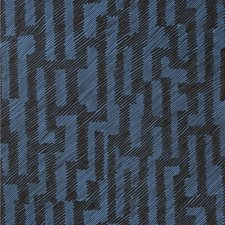 Ebony/Cobalt Contemporary Wallcovering by Groundworks