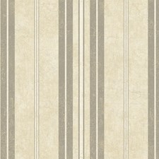 Stucco White/Wheat Gold/Pewter Silver Stripes Wallcovering by York