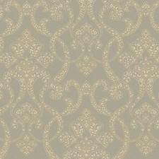 Gold/Dark Gray/Slate Paisley Wallcovering by York