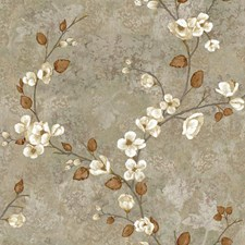 Beige/Tan/Russet Dogwood Wallcovering by York
