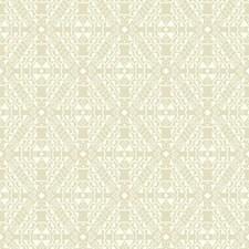 Deep Beige/White Geometrics Wallcovering by York