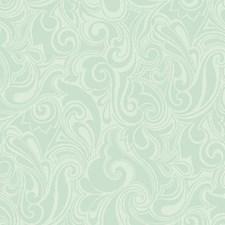 Aqua/White Bohemian Wallcovering by York