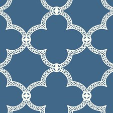 Dark Blue/White Geometrics Wallcovering by York