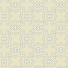 Beige/White/Black Geometrics Wallcovering by York