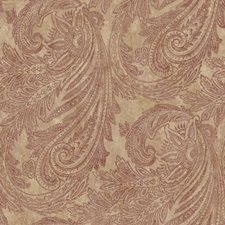 Taupe/Bronze/Deep Ruby Paisley Wallcovering by York