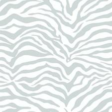 Metallic Silver/White Stripes Wallcovering by York