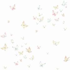 KI0524 Watercolor Butterflies by York