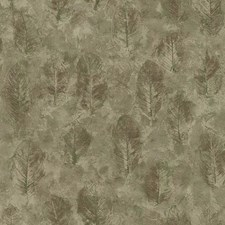 Taupe/Brown/Green Leaf Wallcovering by York