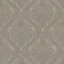 Gray/Silver Damask Wallcovering by York