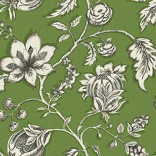 Green/Brown/Off-white Floral Wallcovering by York