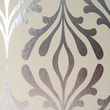 Bisque/Silver Foil Contemporary Wallcovering by York