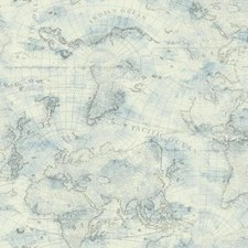 Cream/Sky Blue/Dark Grey Novelty Wallcovering by York