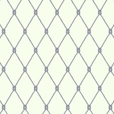 Eggshell/Pale Grey/Navy Blue Trellis Wallcovering by York