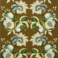 Sepia/Indigo Print Wallcovering by Lee Jofa Wallpaper