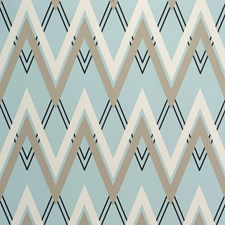Aqua/Sand Ethnic Wallcovering by Lee Jofa Wallpaper