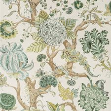 Green Botanical Wallcovering by Lee Jofa Wallpaper