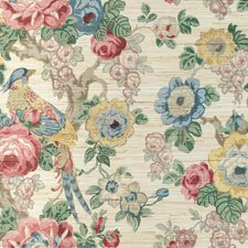 Rose/Gold Botanical Wallcovering by Lee Jofa Wallpaper