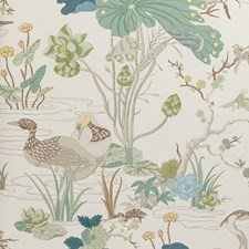 Jade Botanical Wallcovering by Lee Jofa Wallpaper