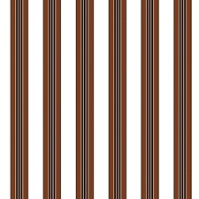 Chocolate Stripes Wallcovering by Brunschwig & Fils