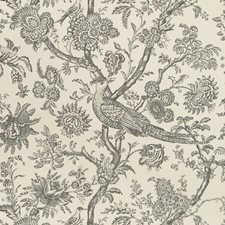 Onyx Toile Wallcovering by Brunschwig & Fils