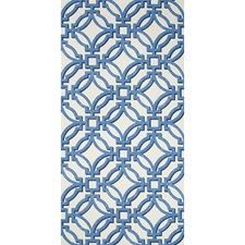 Blue Lattice Wallcovering by Brunschwig & Fils