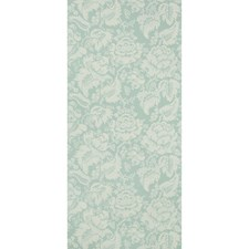 Aqua Damask Wallcovering by Brunschwig & Fils