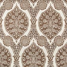 Chocolate Damask Wallcovering by Brunschwig & Fils