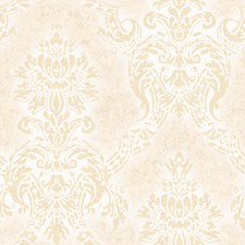 White Damask Wallcovering by Brewster