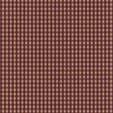Red/Tan Check Wallcovering by York