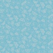 Aqua Blue Bugs Wallcovering by York