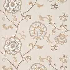 Silver/Linen Wallcovering by Baker Lifestyle Wallpaper