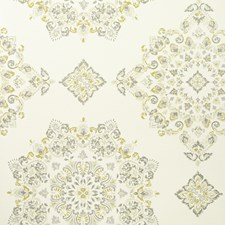 Grey/Yellow Diamond Wallcovering by Baker Lifestyle Wallpaper