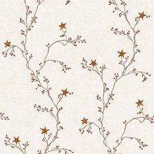 Cream/Gold/Red Vine Wallcovering by York