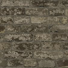 Dark Taupe/Taupe/Beige Brick Wallcovering by York