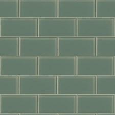 Greyish Aqua/Pale Grey Tile Wallcovering by York