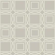 Silver/Beige Geometrics Wallcovering by York