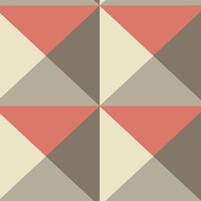 Brown/Orange/Cream Geometrics Wallcovering by York