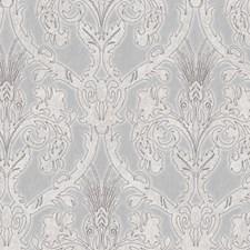 Grey Damask Wallcovering by Brewster
