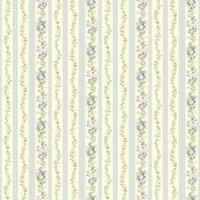Light Cream/Blues/Greens Stripes Wallcovering by York