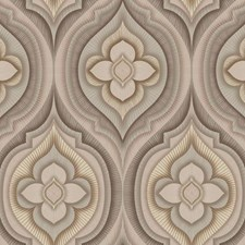 Taupe/Greyish Green/Beige Floral Wallcovering by York