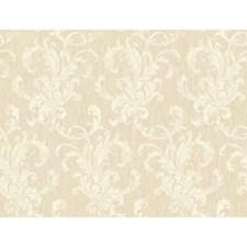 Cream/Beige Metallic Swirl Wallcovering by York