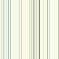 White/Light Blue/Medium Blue Stripes Wallcovering by York