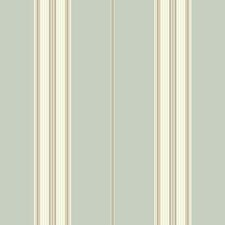Aquamarine/White/Beige Stripes Wallcovering by York
