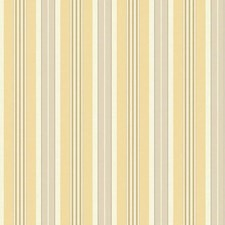 White/Greige/Yellow Stripes Wallcovering by York