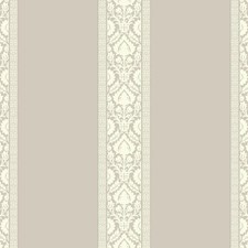 Light Grey/White/Dark Grey Damask Wallcovering by York