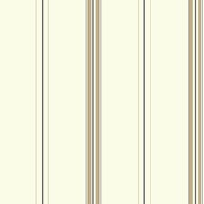 White/Tan/Brown Stripes Wallcovering by York