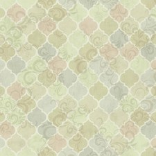 Pale Green/Light Grey/Dark Beige Bricks Wallcovering by York