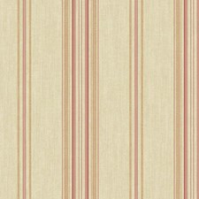 Gold Cloth/Cranberry/Blush Pink Stripes Wallcovering by York
